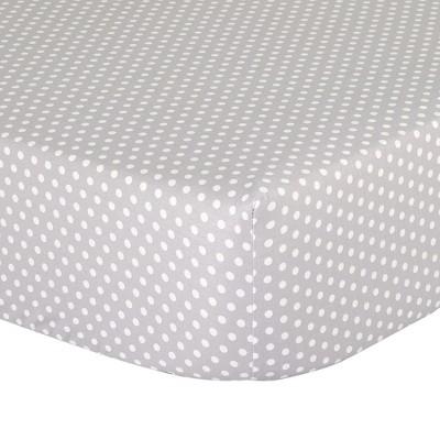 The Peanutshell Fitted Crib Sheet - Gray Dots