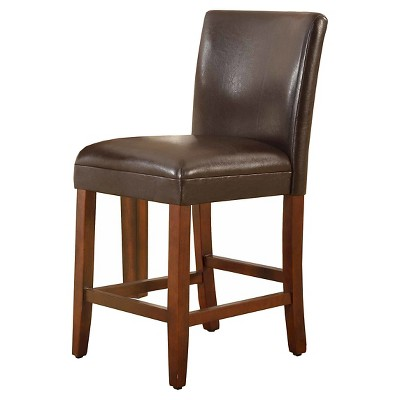 """24"""" Faux Leather Luxury Counter Stool - HomePop"""