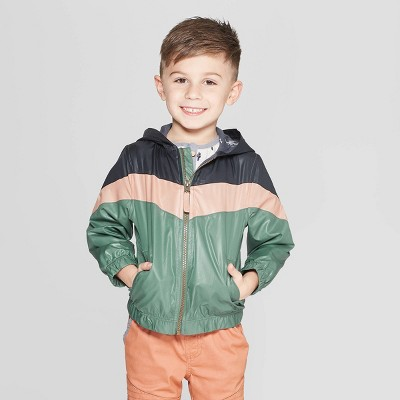 Genuine Kids® from Oshkosh Toddler Boys' Color-block Windbreaker Jacket - Green