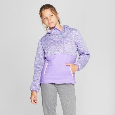 Girls' Half Zip Puffer Jacket - C9 Champion® Purple