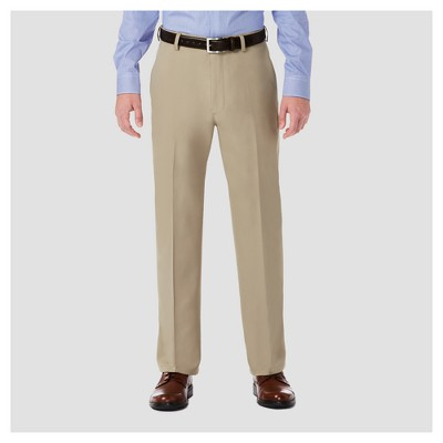 Haggar H26® Men's Performance 4 Way Stretch Classic Fit Trouser Pants - Khaki 34x29