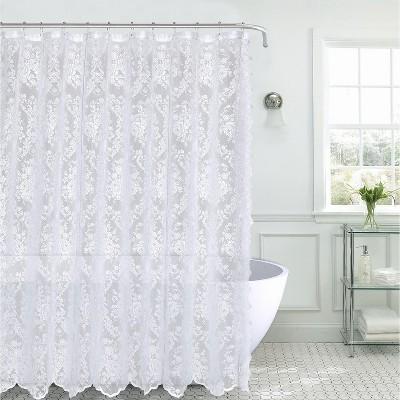 black lace shower curtain target