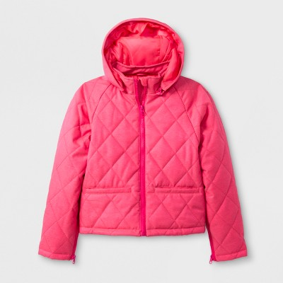 Girls' Adaptive Quilted Jacket - Cat & Jack™ Pink