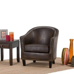 Tub Chair Brown Leather Snorlax Bean Bag Review Kildare Bonded Upholstered Wyndenhall Target