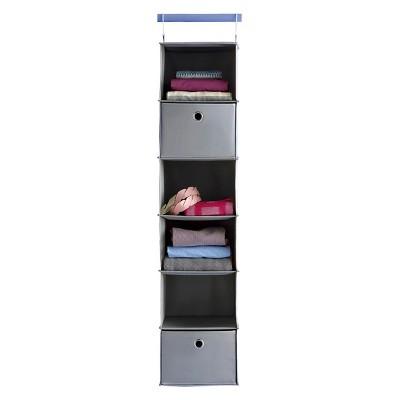 6-Shelf Hanging Closet Organizer Gray - Room Essentials™
