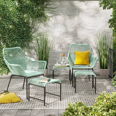sunmor 5pc patio chat set green project 62