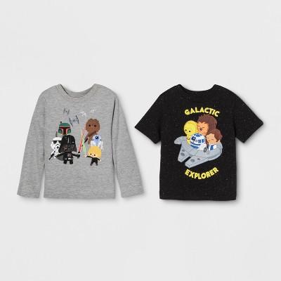 Toddler Boys' 2pk Star Wars T-Shirts - Black/Gray