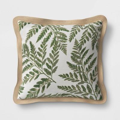 outdoor throw pillow fern threshold