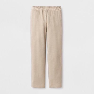 Girls' Adaptive Uniform Ponte Pants - Cat & Jack™ Tan