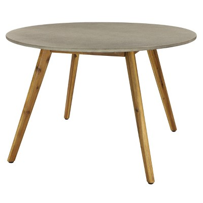 small round concrete outdoor end table gray olivia may