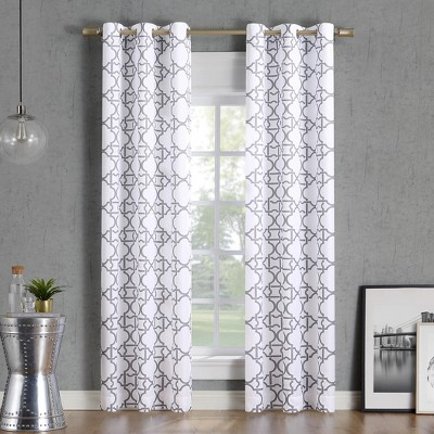 Barkley Trellis Semi-Sheer Grommet Curtain Panel - No. 918