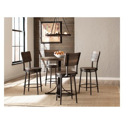 counter height chairs target best art studio chair 5pc jennings dining set non swivel stools wood metal hillsdale furniture