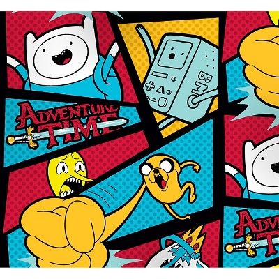 """Adventure Time Framed with Dots, Fleece, 59/60"""" Width, Fabric by the Yard"""