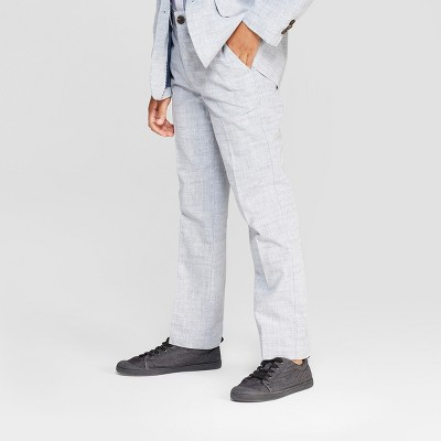 Boys' Chambray Chino Pants - Cat & Jack™ Gray