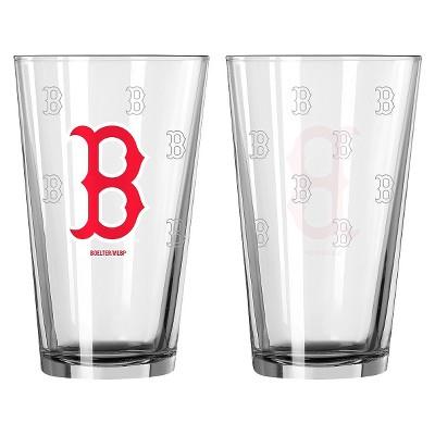 MLB Boelter Brands 2 Pk Pint Glass Set - 16 oz