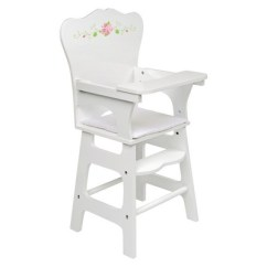 Baby Doll High Chairs Tulip Table And Nz Badger Basket White Rose Chair Target