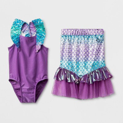 Baby Girls' 2pc Mermaid Skirt Set - Cat & Jack™ Purple