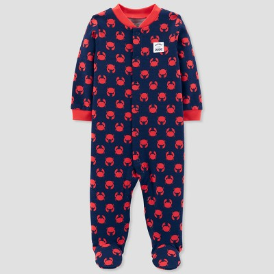 Baby Boys' Crab Sleep N' Play - Just One You® made by carter's Navy/Red
