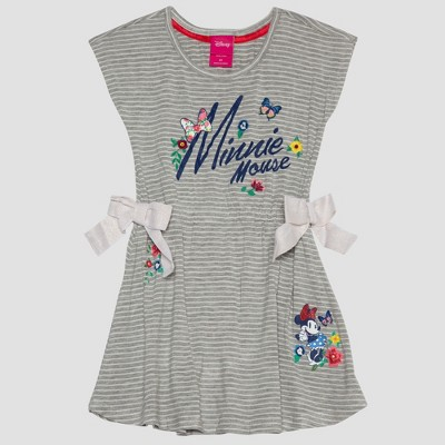 Toddler Girls' Disney Mickey Mouse & Friends Minnie Mouse T-Shirt Dress - Heather Gray