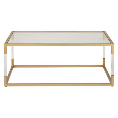 metal and glass coffee table gold olivia may
