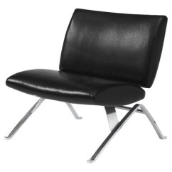 Leather Chrome Chair Single Fold Out Bed Accent Black Metal Everyroom Target