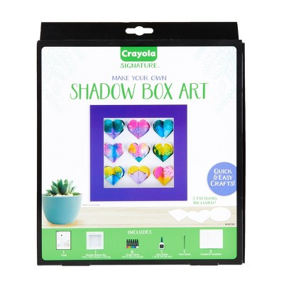 Crayola 13pc DIY Shadow Box, Personalized Picture Frame Kit