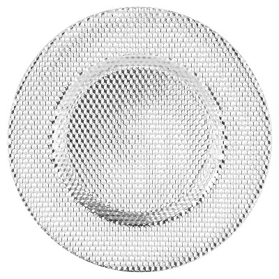 """Glass Charger Plate 13"""" Silver - 10 Strawberry Street"""
