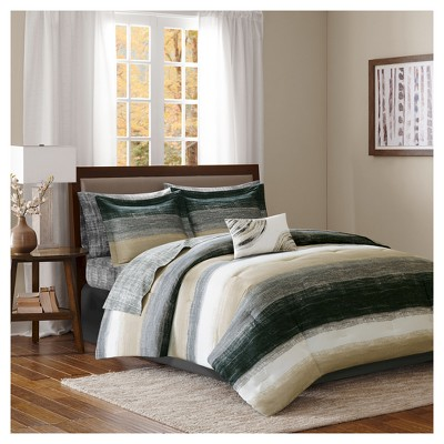 Seth Striped Complete Multiple Piece Comforter Set