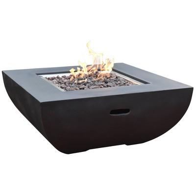 aurora 34 outdoor fire pit propane table backyard patio heater elementi