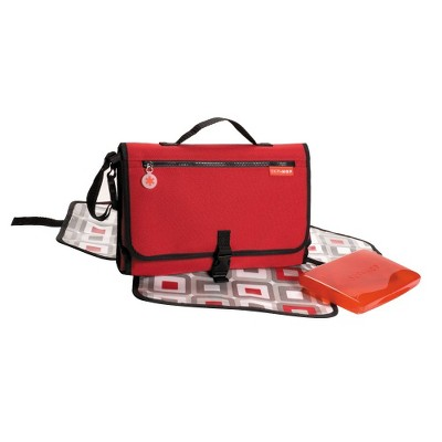 Skip Hop Pronto Baby Changing Station & Diaper Clutch, Red