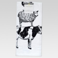 Kitchen Towels Target Make Cabinets Farm Animal Flour Sack Towel White Threshold
