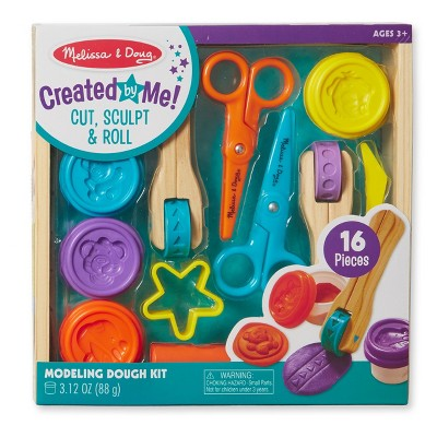 Melissa & Doug® Cut, Sculpt, and Roll Clay Play Set With 8 Tools and 4 Colors of Modeling Dough