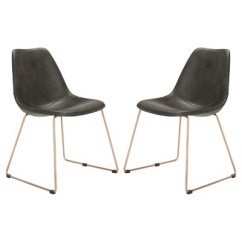 Safavieh Dining Chairs Folding Tables And For Sale Set Of 2 Dorian Midcentury Modern Leather Chair