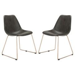 Leather Chair Modern Baby Saucer Set Of 2 Dorian Midcentury Dining Safavieh