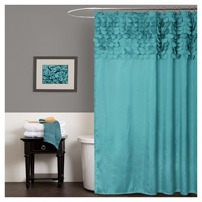 Lillian Circle Ruffle Shower Curtain - Lush Décor