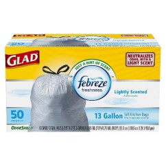 Tall Kitchen Bags Used Tables For Sale Glad Odorshield Febreze Lightly Scented Drawstring Trash 50ct Target