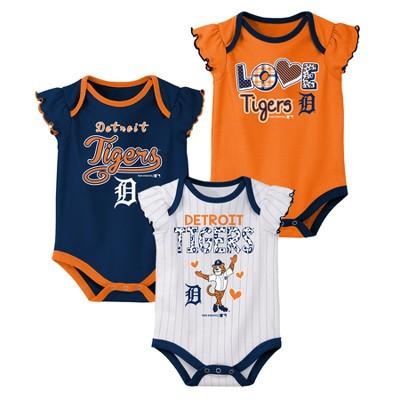 MLB Baby Girls' 3pk Flutter Short Sleeve Bodysuits