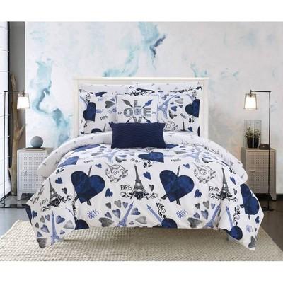 Chic Home Design Marais Bed In A Bag Comforter Set