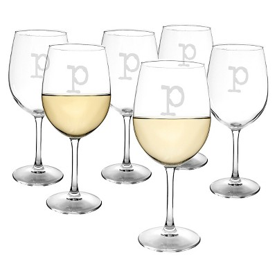Cathy's Concepts® Personalized 12 oz. White Wine Glasses (Set of 6)-P