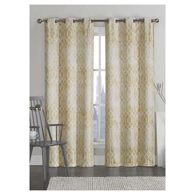 VCNY Andreas Printed Saxton Grommet Curtain Panel Pair