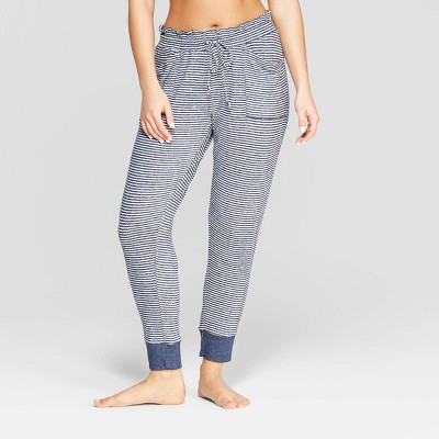 Women's Striped Perfectly Cozy Lounge Jogger Pants - Stars Above™ Navy