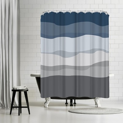 americanflat navy gray abstract by jetty home 71 x 74 shower curtain
