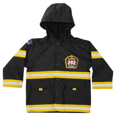 Toddler Boy F.D.U.S.A. Firechief Rain Coat Black - Western Chief