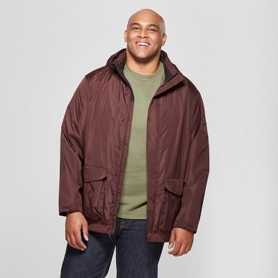 Men's Big & Tall Rain Jacket - Goodfellow & Co™ Burgundy