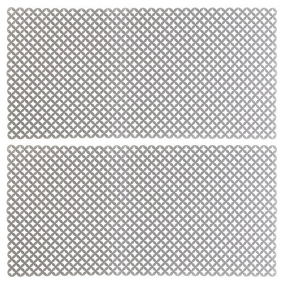 mdesign plastic kitchen farmhouse sink protector mat 12 x 25 gray 2 pack