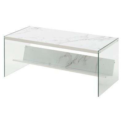 soho coffee table faux white marble breighton home