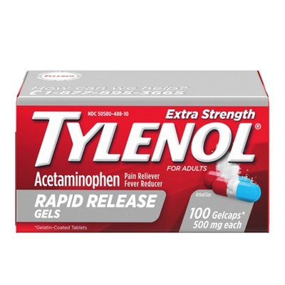 Tylenol Extra Strength Rapid Release Pain Reliever & Fever ...