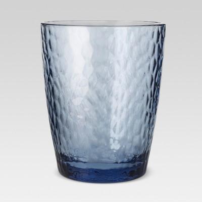 Plastic Textured Short Tumbler 13oz Blue - Threshold™