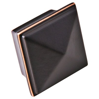 Sumner Street Home Hardware - 1.25 - 4 -Piece - Knob - Oil-Rubbed Bronze Pyramid