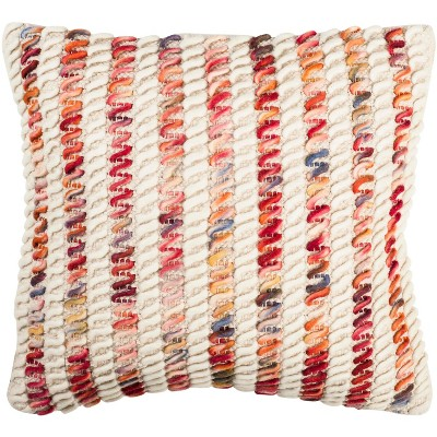 candy cane looped pillow candy red 20 x 20 safavieh